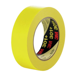3M Performance Yellow Masking Tape 301+ Roll 72 mm x 55 m 12 per case