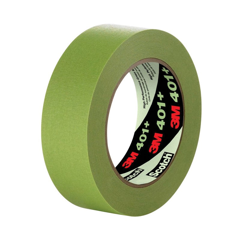 3M High Performance Green Masking Tape 401+ 48 mm x 55 m 12 per case