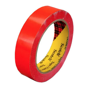 3M Scotch Color Coding Tape 690 Red 24 mm x 66 m 72 per case