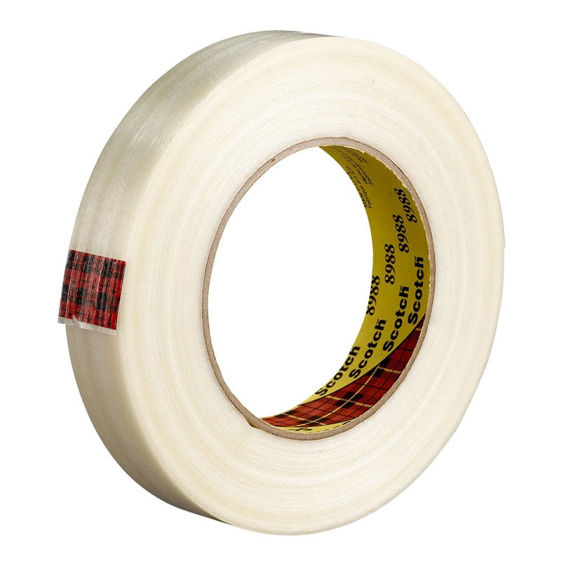 3M Strapping Tape 8896 Ivory 24 mm x 110 m 36 rolls per case