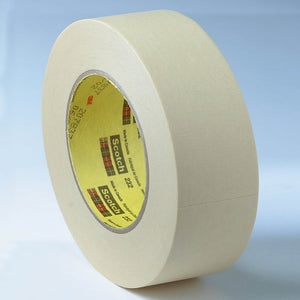 3M High Performance Masking Tape 232 Tan 12 mm x 55 m 72 per case