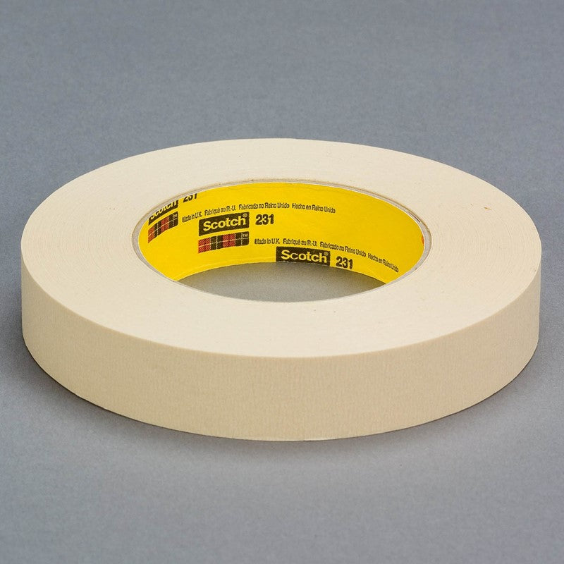 3M Paint Masking Tape 231231A Tan 36 mm x 55 m 24 per case