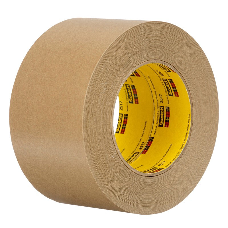 3M Flatback Tape 2517 Medium Brown 100 mm x 55 m 8 per case