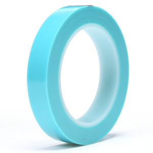 "3M Scotch High Temperature Fine Line Tape 4737T Translucent Blue 1/2"" x 36 yd 72 per case"