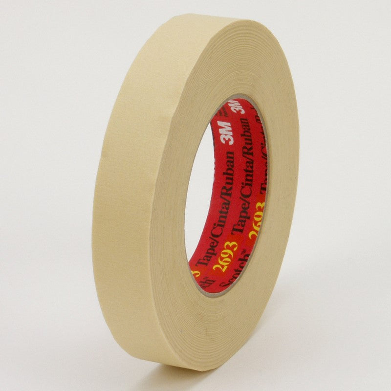 3M High Performance Masking Tape 2693 Tan 24 mm x 55 m 36 per case