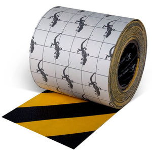 "INCOM Gator Grip Traction Tape 6"" x 60' Indoor/Outdoor Yellow &Black Stripe Non-Skid Tape"