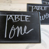 Blackboard Bin Sign Set of 3