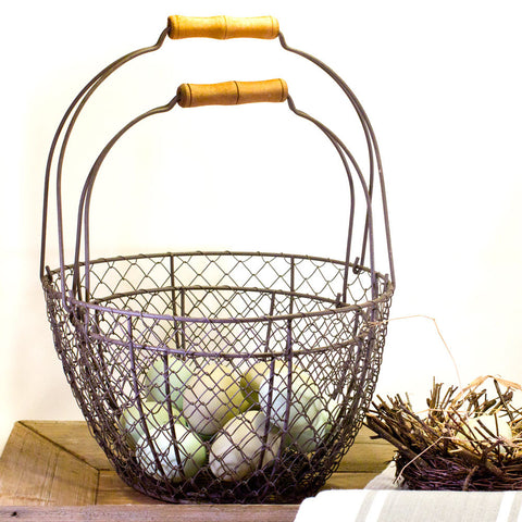 Round Wire Farmhouse Baskets Set of Two http://www.napavalleyhomeandgarden.com/products/wire-baskets