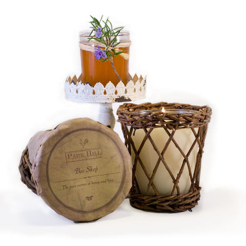 Park Hill Bee Skep Candle http://www.napavalleyhomeandgarden.com/products/candle-bee-skep