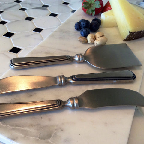Antiqued Silver Cheese Servers