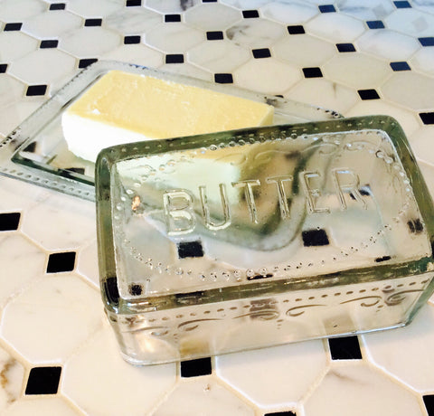 French Farmhouse Covered Butter Dish