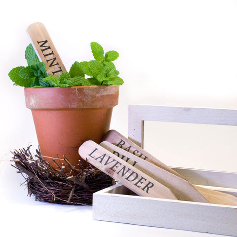 Wooden Herb and Garden Markers http://www.napavalleyhomeandgarden.com/products/wooden-herb-markers