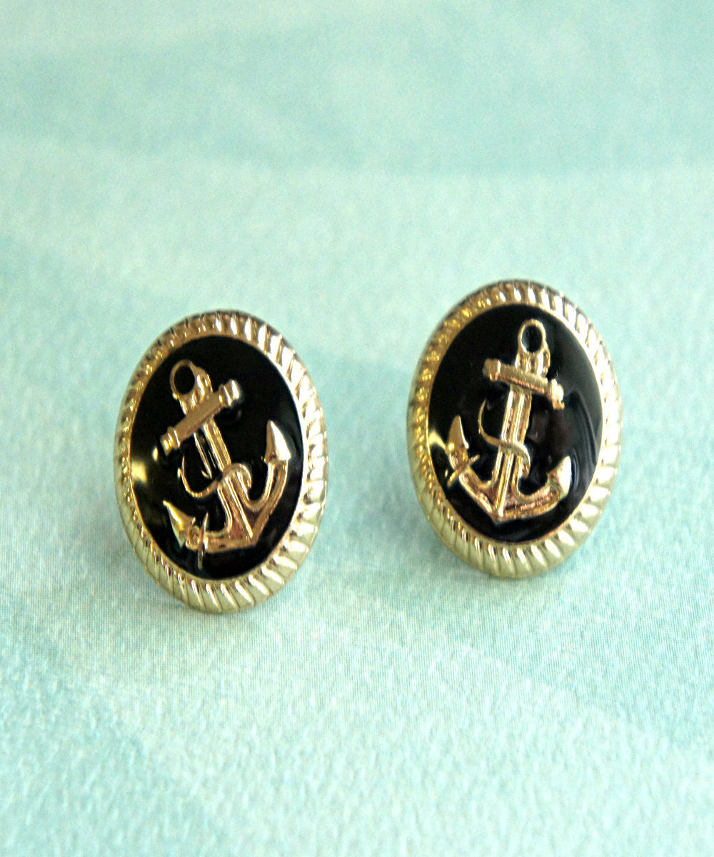 nautical anchor stud earrings - Jillicious charms and accessories - 2
