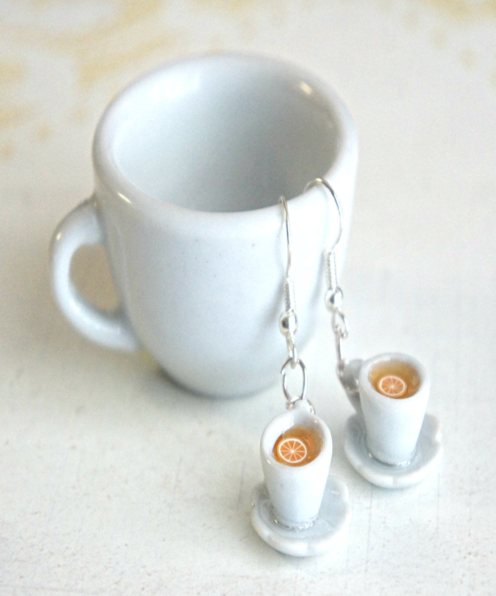 Lemon Tea Cup Earrings - Jillicious charms and accessories