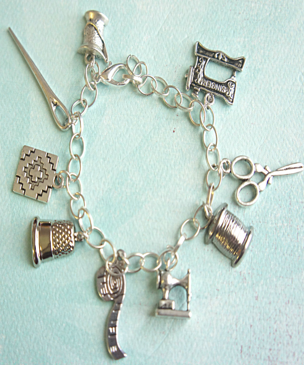 Sewer's Charm Bracelet - Jillicious charms and accessories