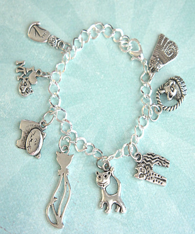 cat lover charm bracelet - Jillicious charms and accessories