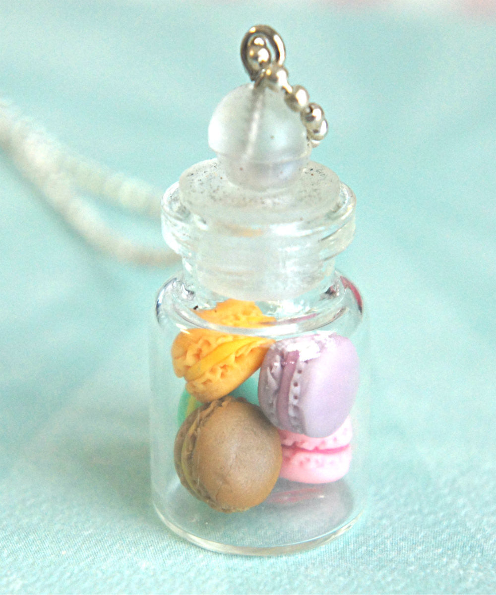 french macarons in a jar necklace - Jillicious charms and accessories - 1