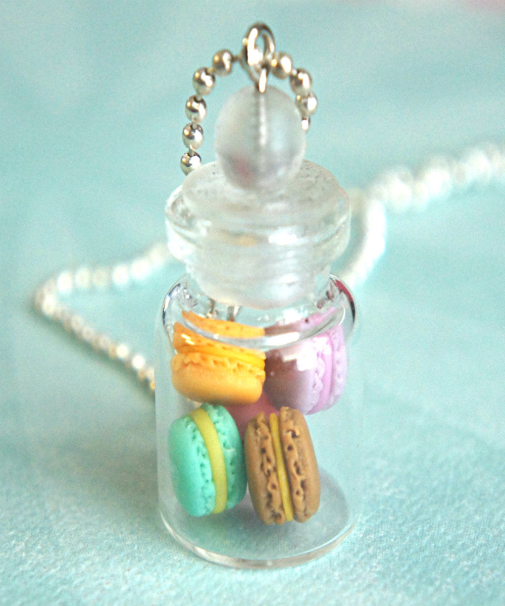 french macarons in a jar necklace - Jillicious charms and accessories - 2