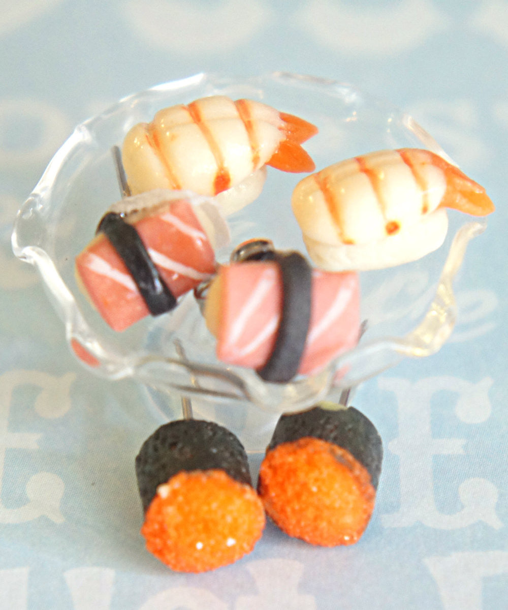sushi sampler stud earrings - Jillicious charms and accessories