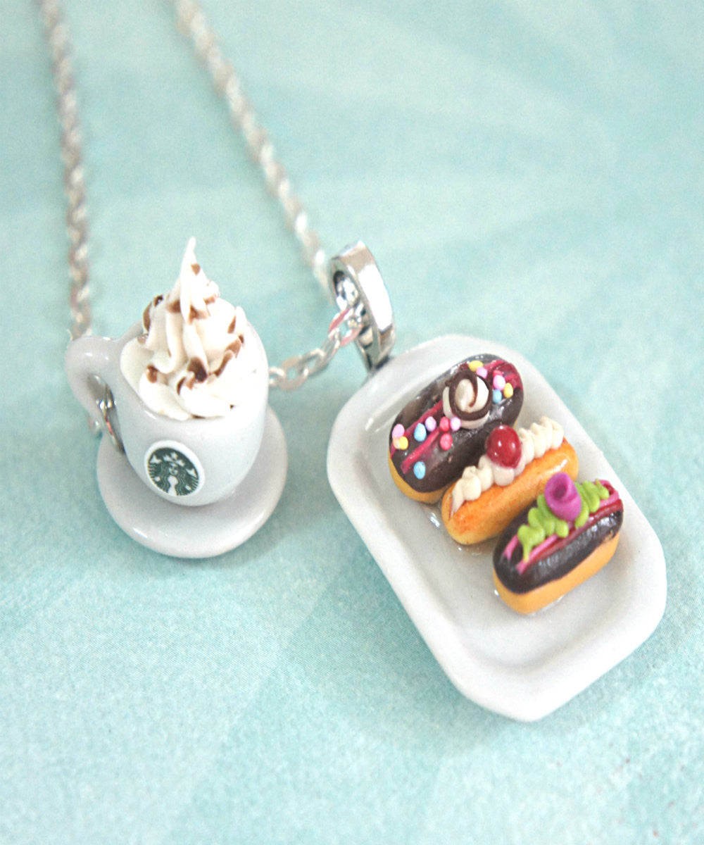 eclairs and starbucks coffee necklace - Jillicious charms and accessories - 2