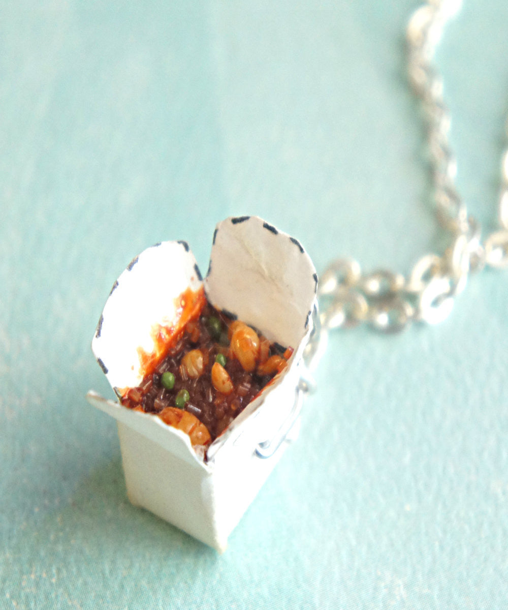 chinese food take out box necklace - Jillicious charms and accessories