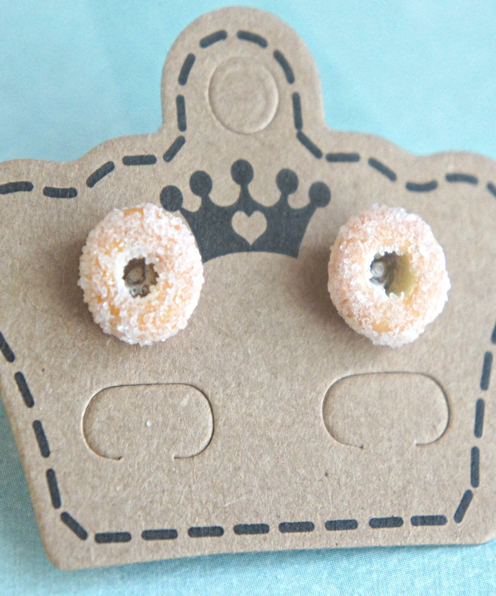 Sugar Donuts Stud Earrings - Jillicious charms and accessories - 3