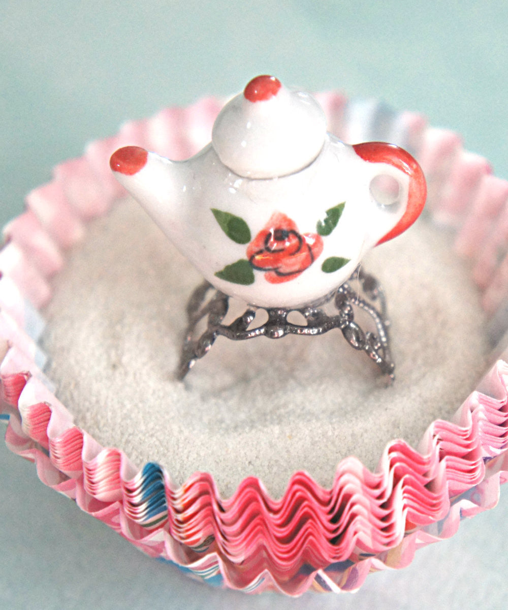 Rose Tea Pot Ring - Jillicious charms and accessories - 2