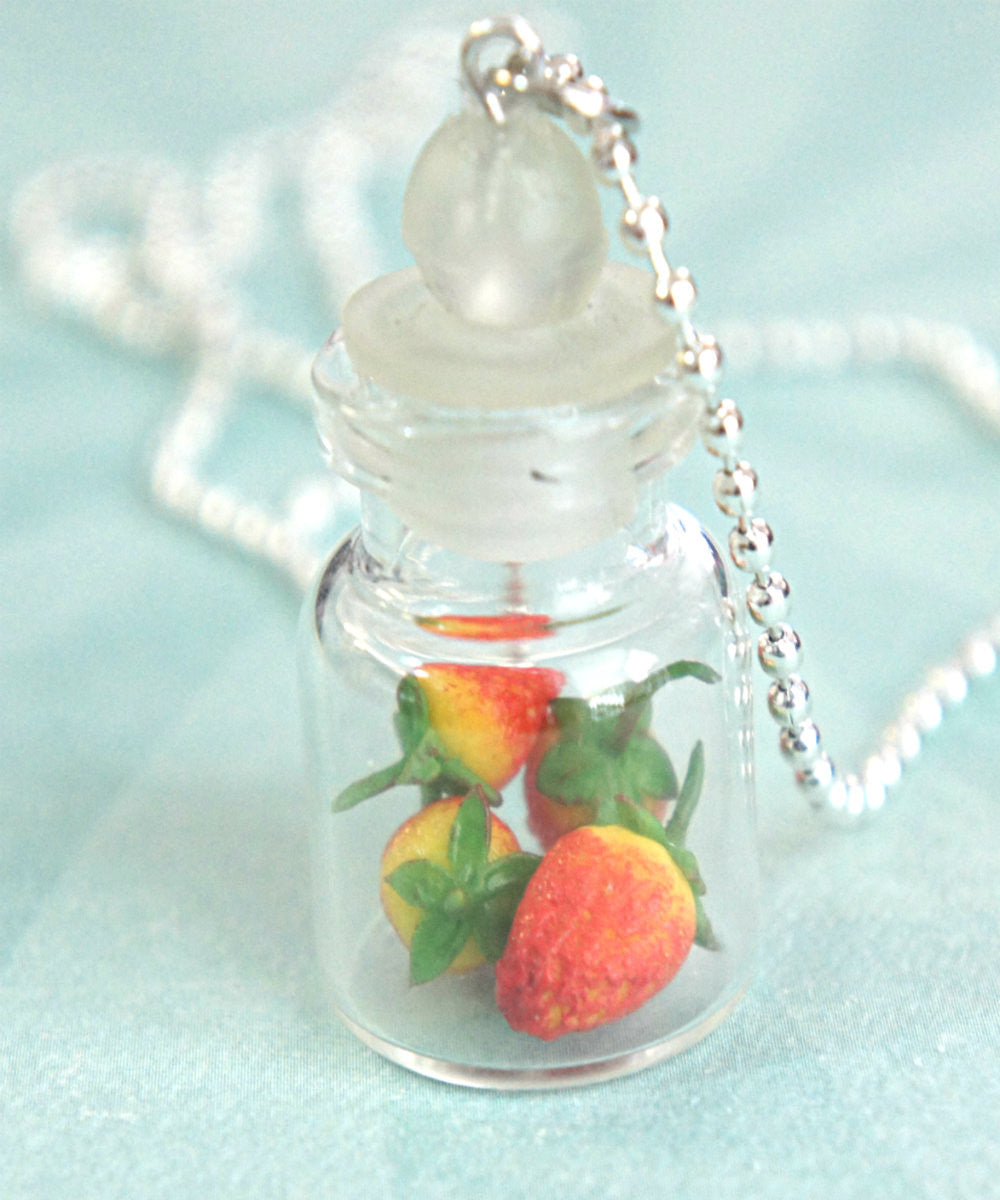 Strawberries in a Jar Necklace - Jillicious charms and accessories - 1