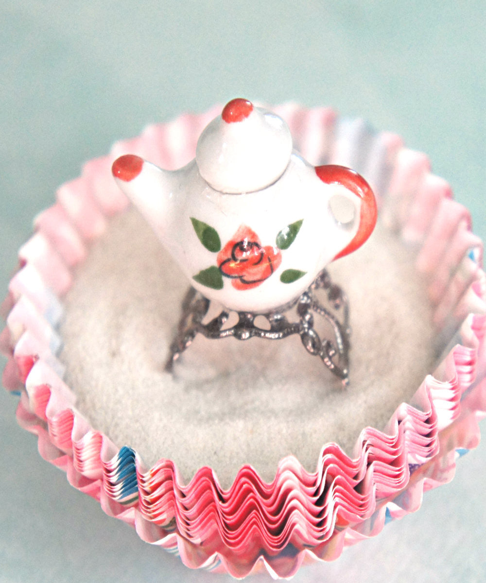 Rose Tea Pot Ring - Jillicious charms and accessories - 3