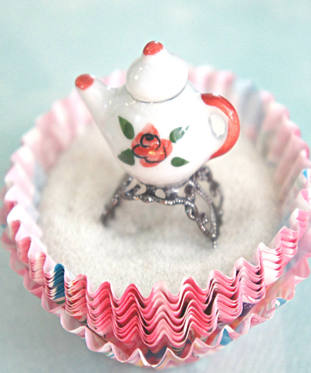 Rose Tea Pot Ring - Jillicious charms and accessories - 1