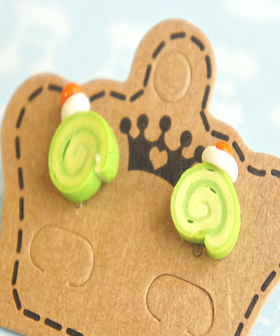 green tea cake earrings - Jillicious charms and accessories - 1