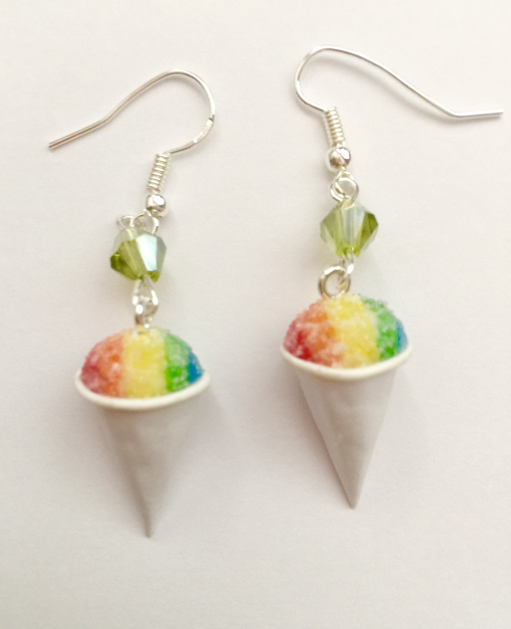 Snow Cone Dangle Earrings - Jillicious charms and accessories