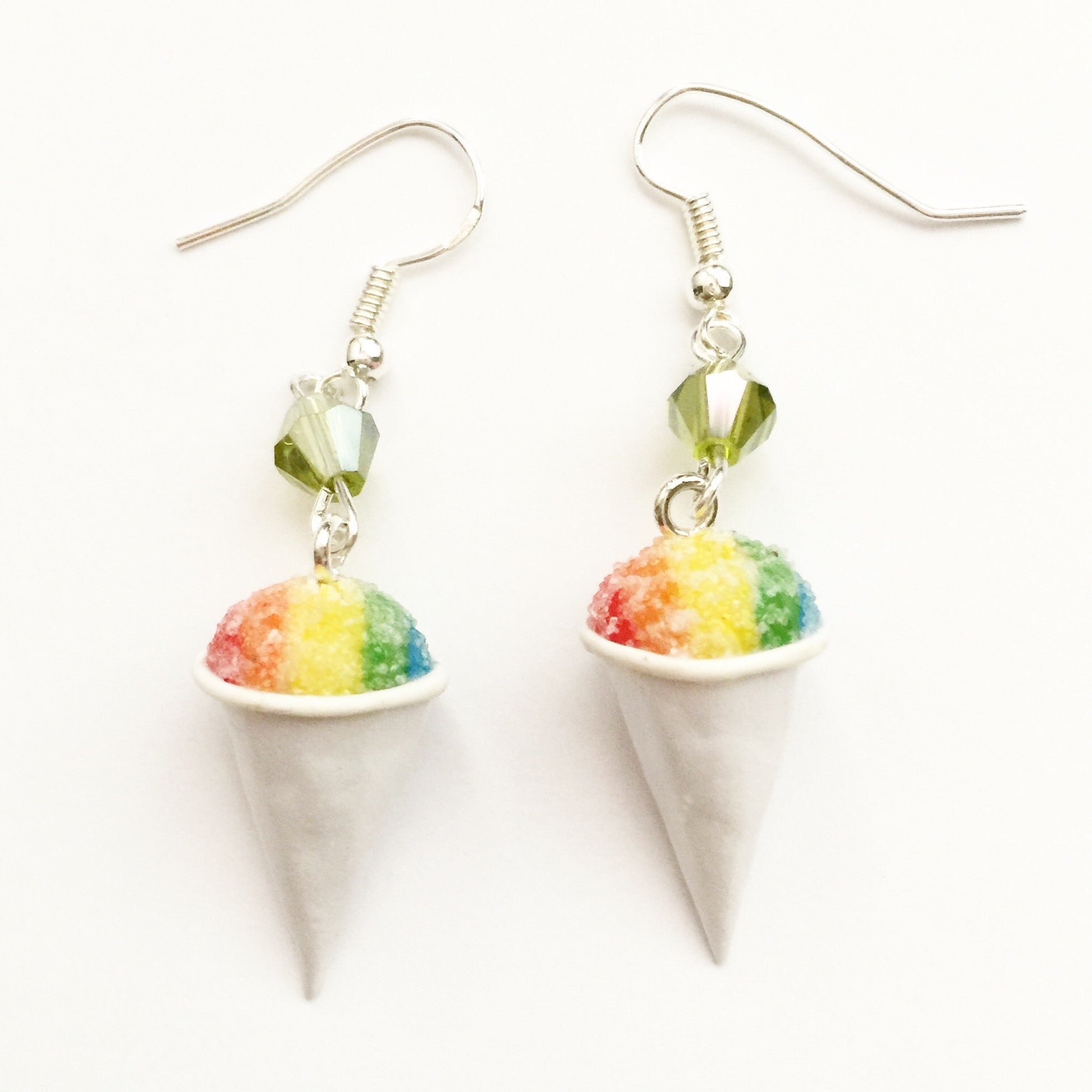 Snow Cone Dangle Earrings - Jillicious charms and accessories - 1