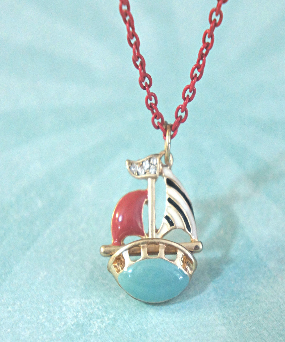 Sailboat Necklace - Jillicious charms and accessories