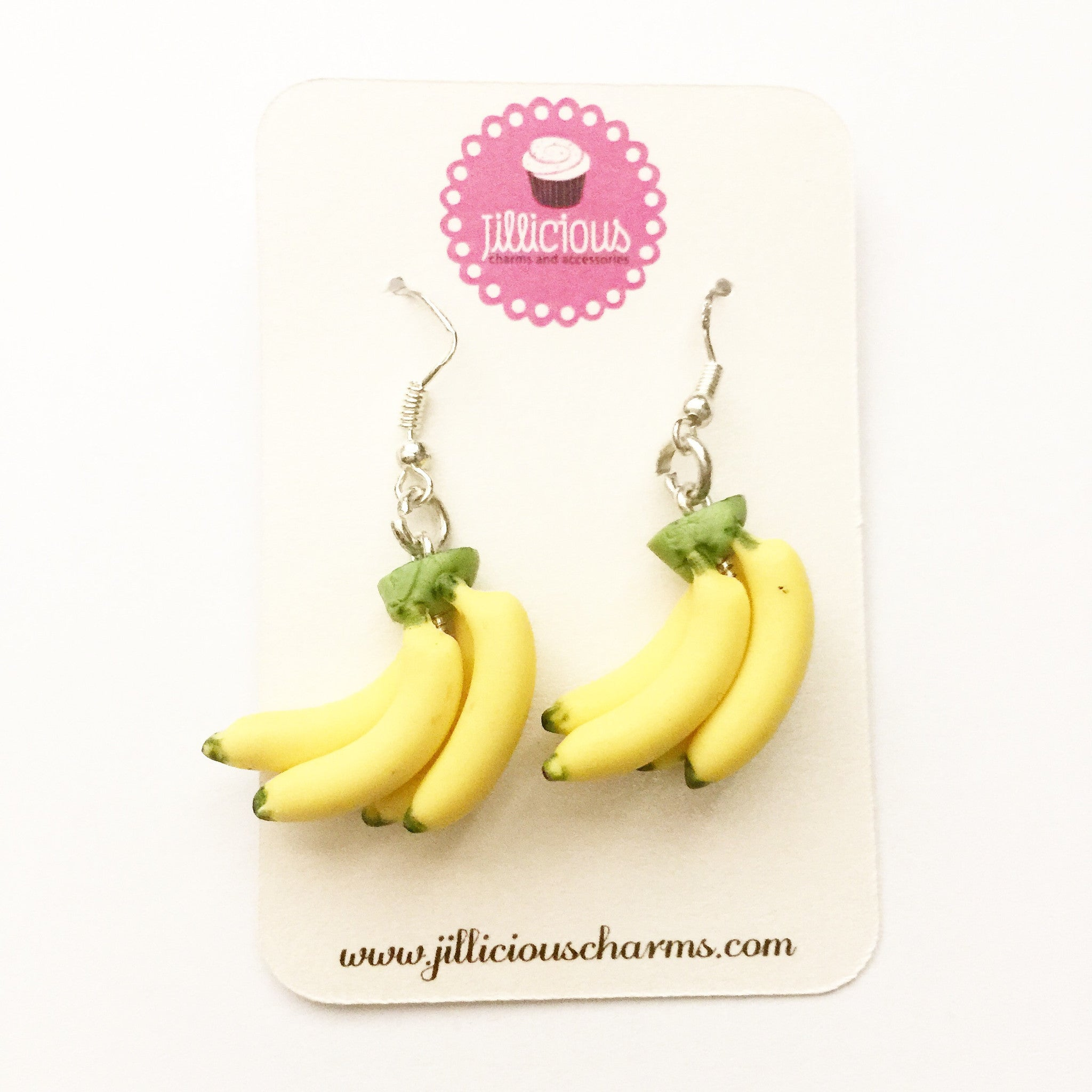 Banana Bunch Dangle Earrings - Jillicious charms and accessories - 4