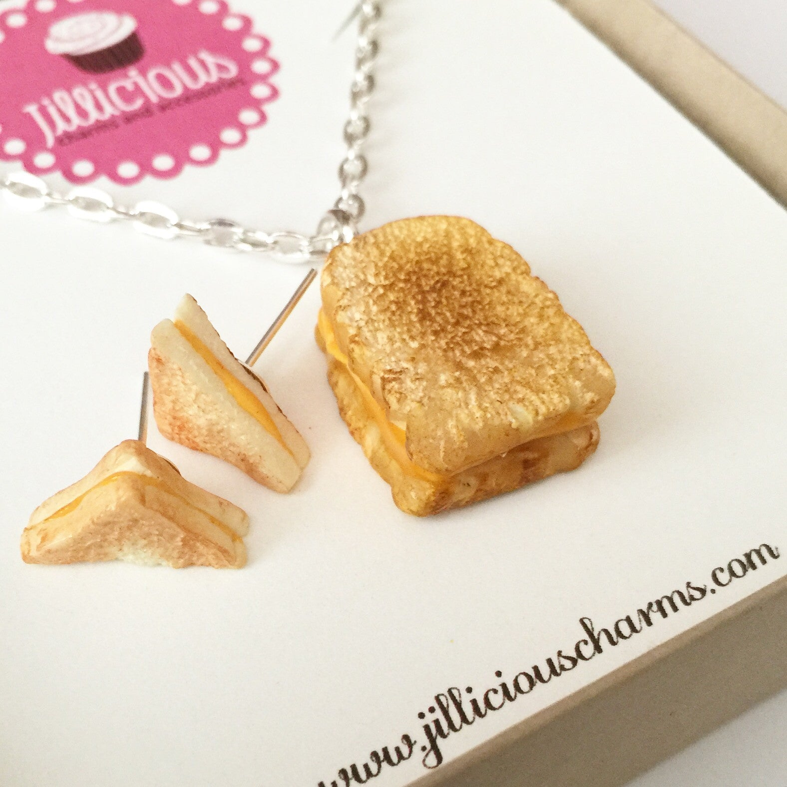 grilled cheese sandwich necklace - Jillicious charms and accessories - 8