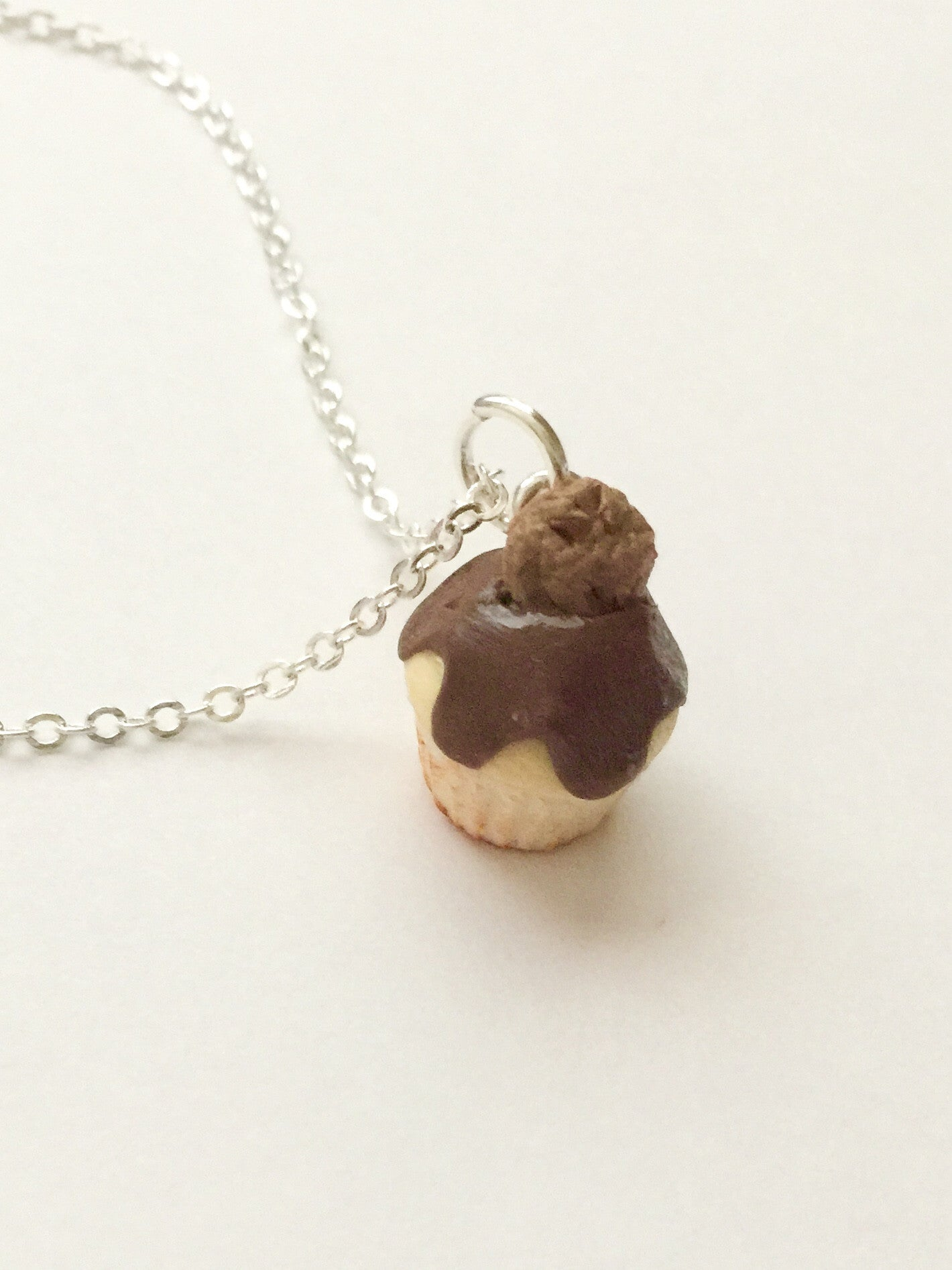 chocolate  chip cookie cupcake necklace - Jillicious charms and accessories