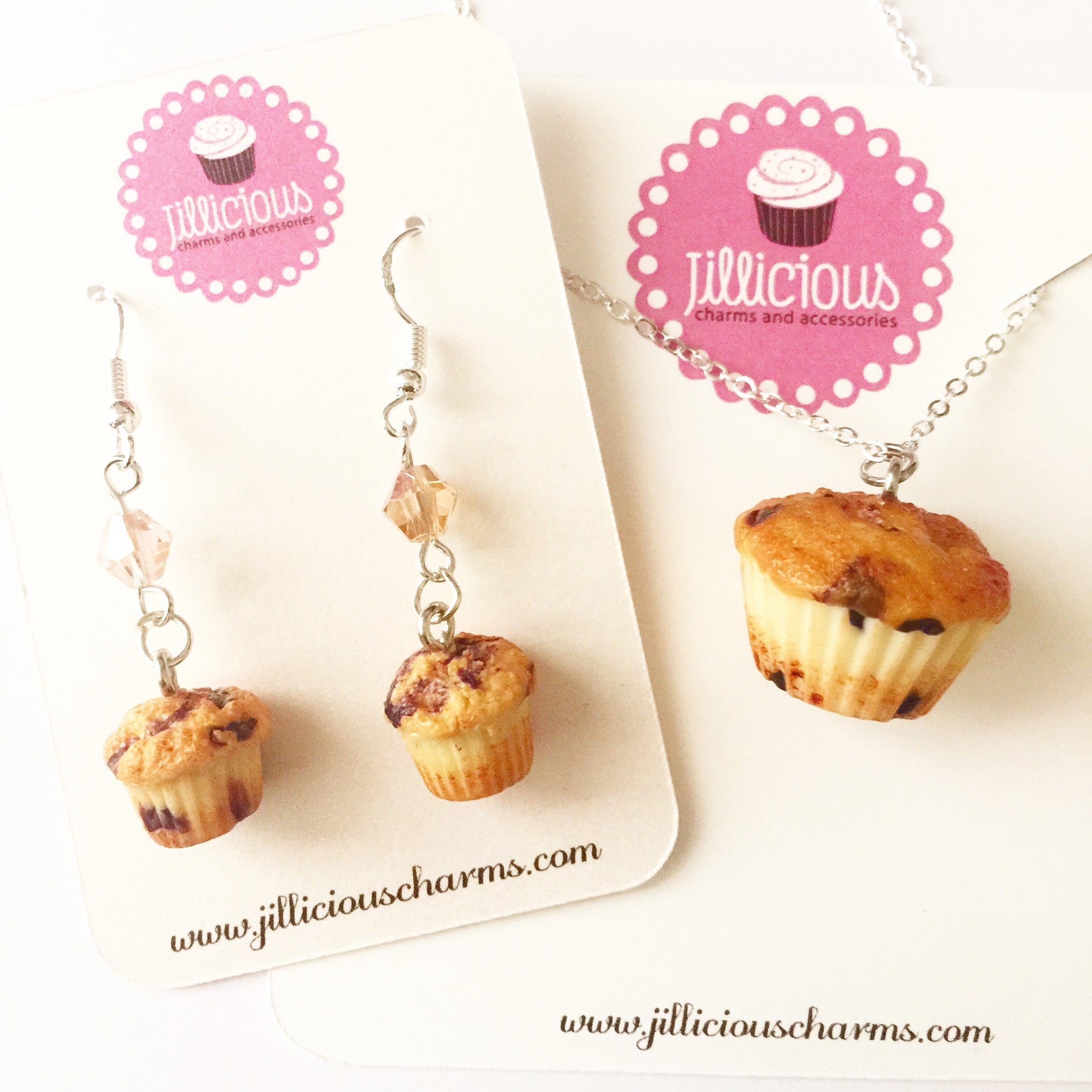 Blueberry Muffin Necklace - Jillicious charms and accessories - 6