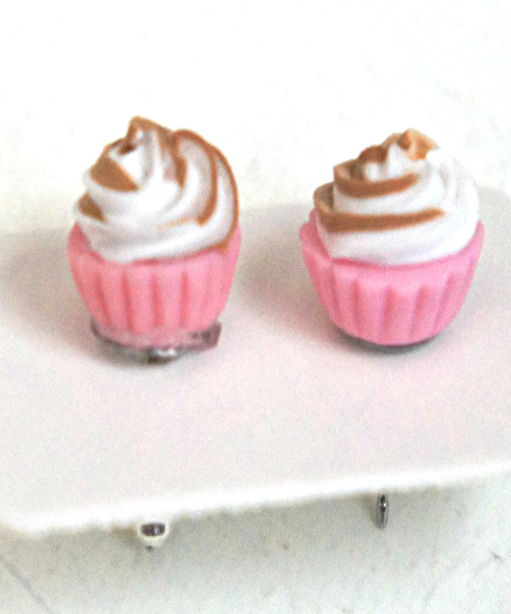 Neapolitan Cupcake Stud Earrings - Jillicious charms and accessories - 5