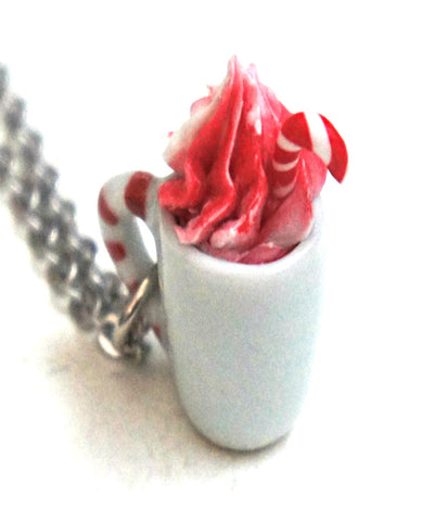 Candy Cane White Hot Chocolate Necklace - Jillicious charms and accessories - 1