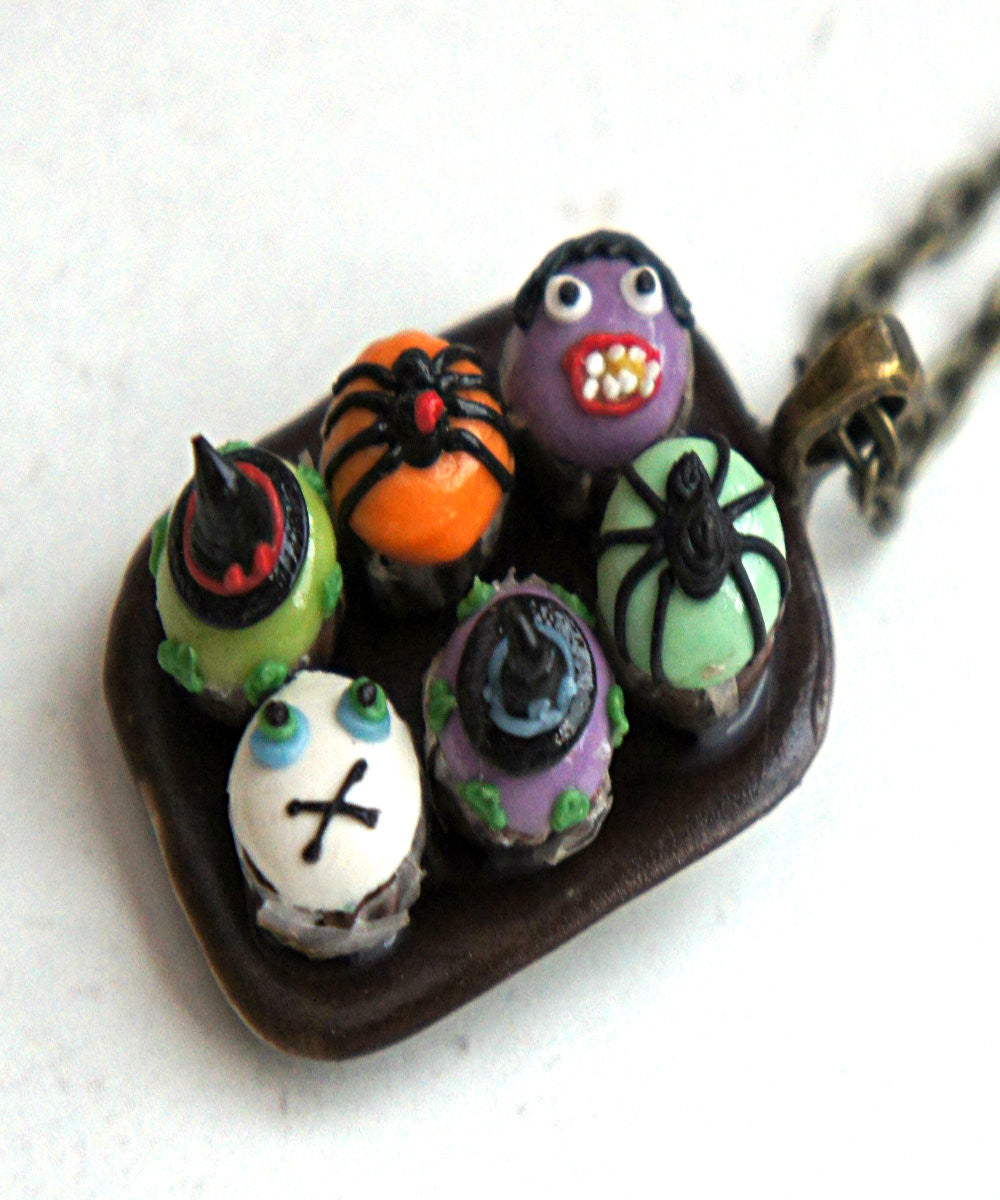halloween cupcake sampler necklace - Jillicious charms and accessories