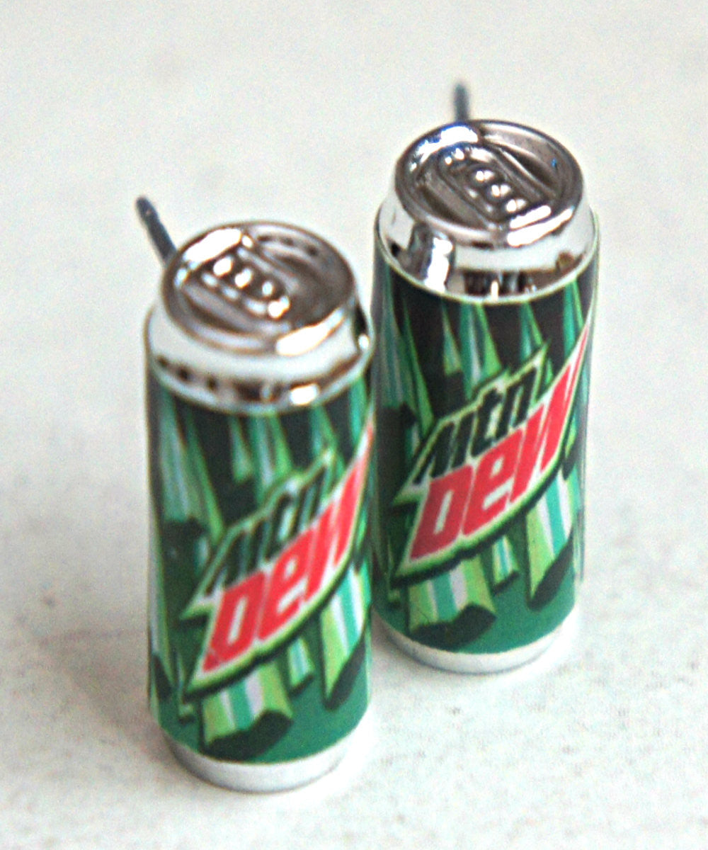 Mountain Dew Soda Can Earrings - Jillicious charms and accessories - 2