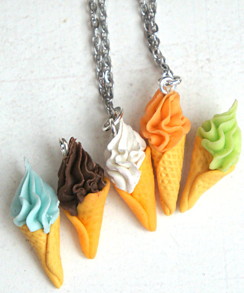 Soft Serve Ice Cream Necklace - Jillicious charms and accessories - 1