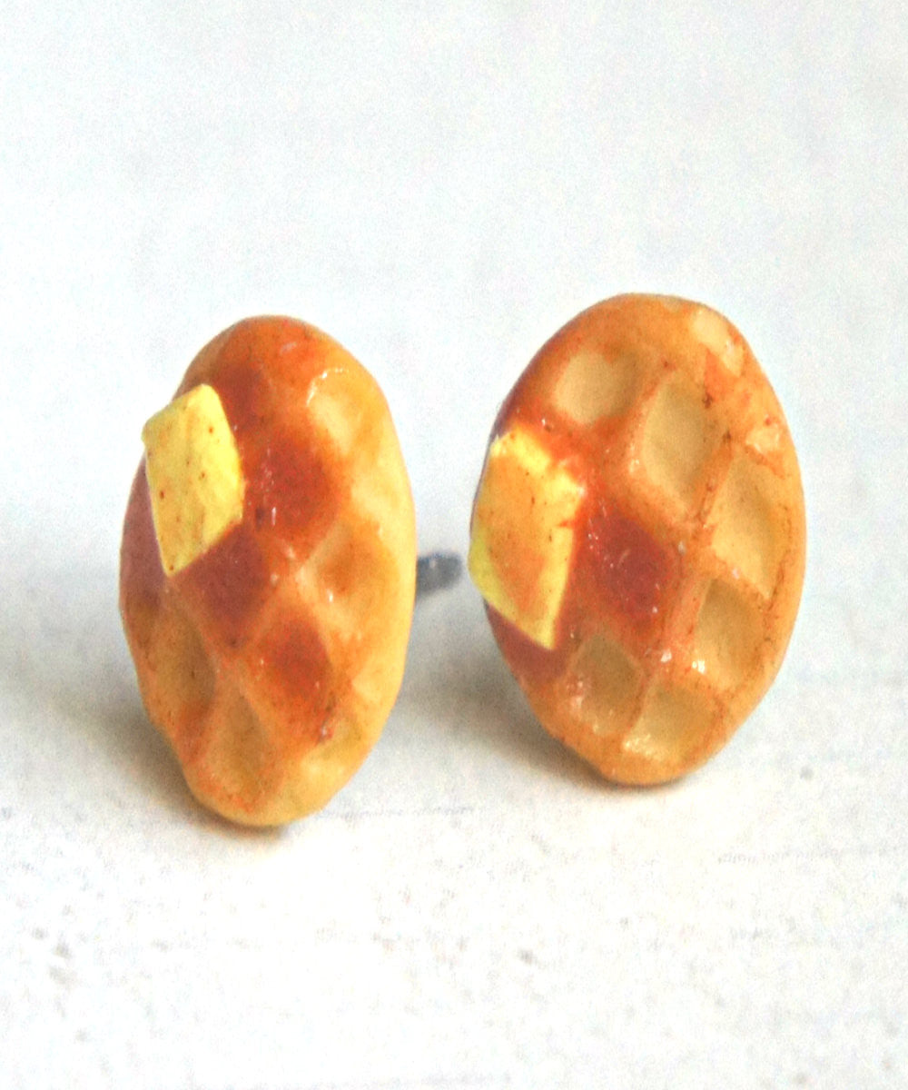 Waffles Stud Earrings - Jillicious charms and accessories - 2