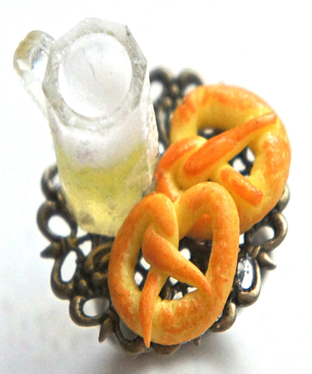Pretzels and Beer Ring - Jillicious charms and accessories - 1
