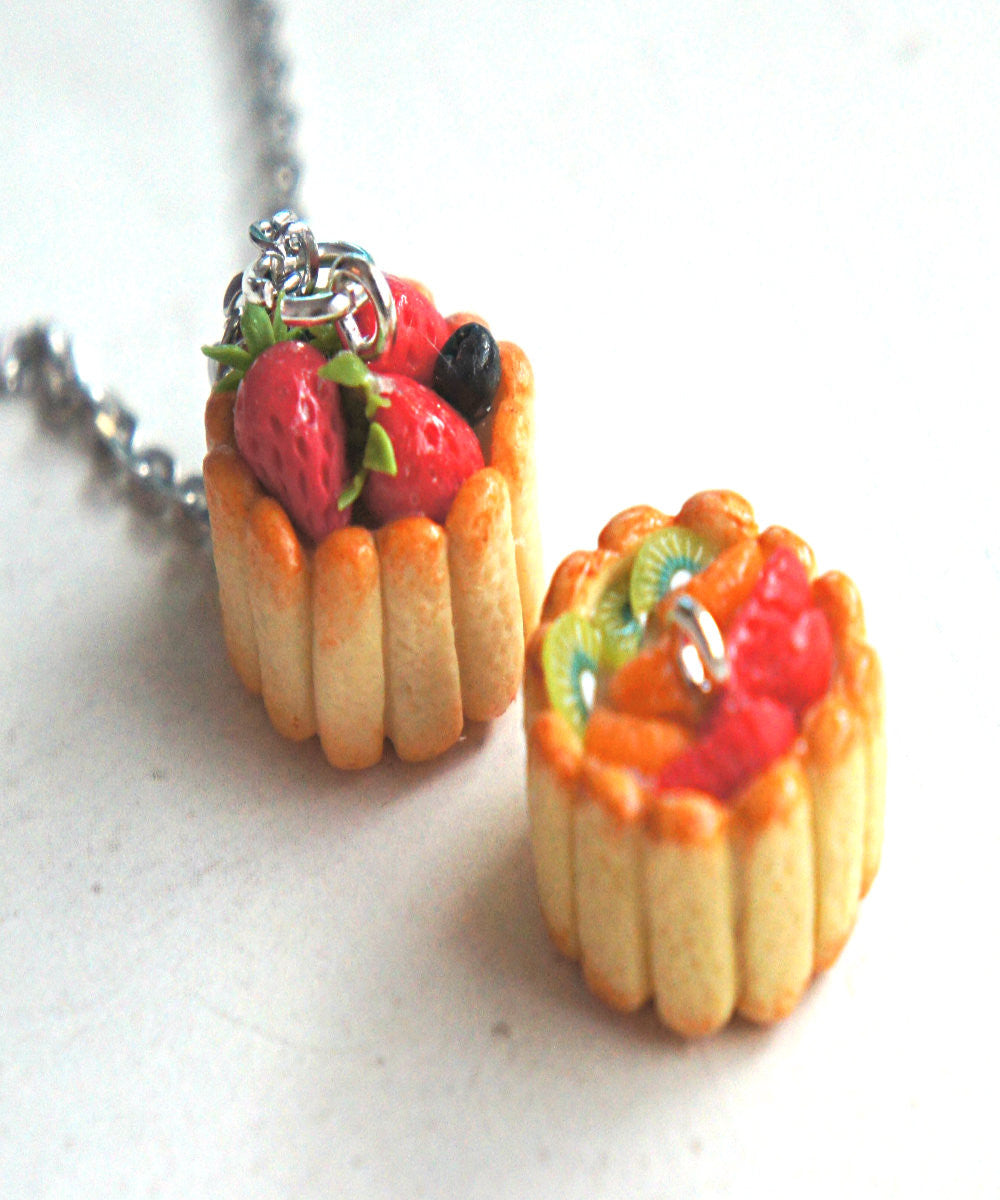Ladyfinger Cake Necklace - Jillicious charms and accessories - 1