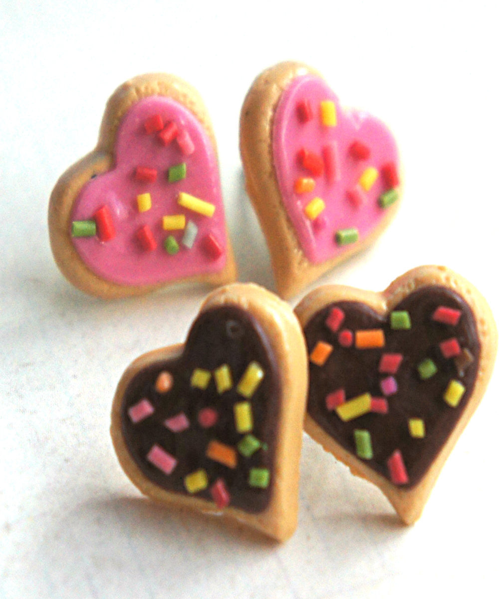 Heart Sprinkles Sugar Cookies Earrings - Jillicious charms and accessories - 1