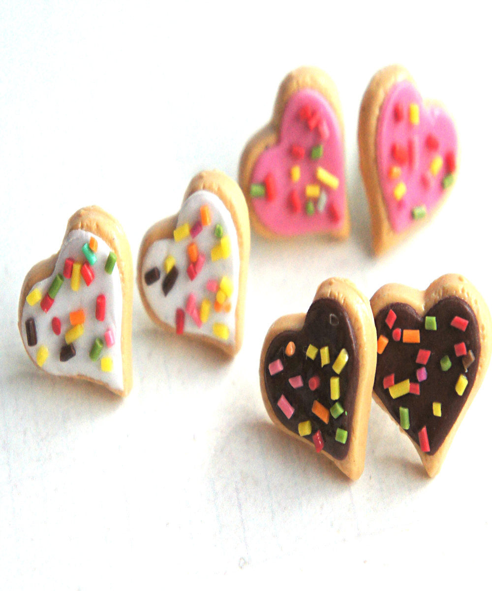 Heart Sprinkles Sugar Cookies Earrings - Jillicious charms and accessories - 3