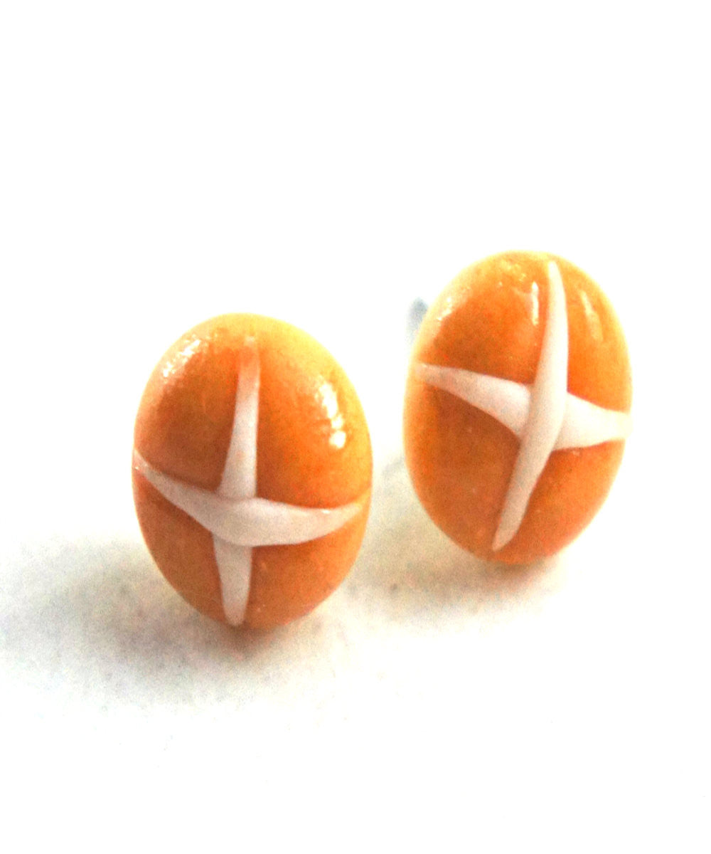 Hot Cross Buns Stud Earrings - Jillicious charms and accessories - 2