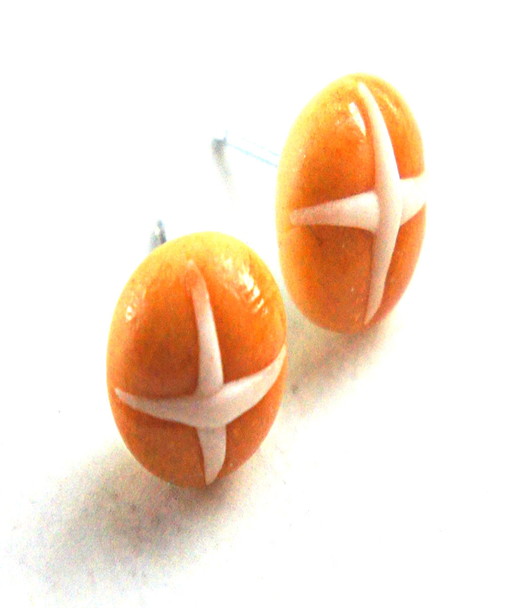 Hot Cross Buns Stud Earrings - Jillicious charms and accessories - 1
